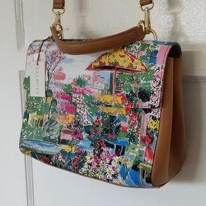 TALBOTS Leather Crossbody Messenger Bag Purse NWT